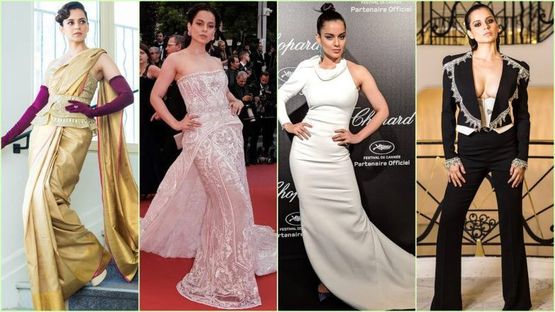 Kangana Ranaut at Cannes 2019: The Actres Ruled the Red Carpet With Her Bold Silhouettes and Simple Cuts