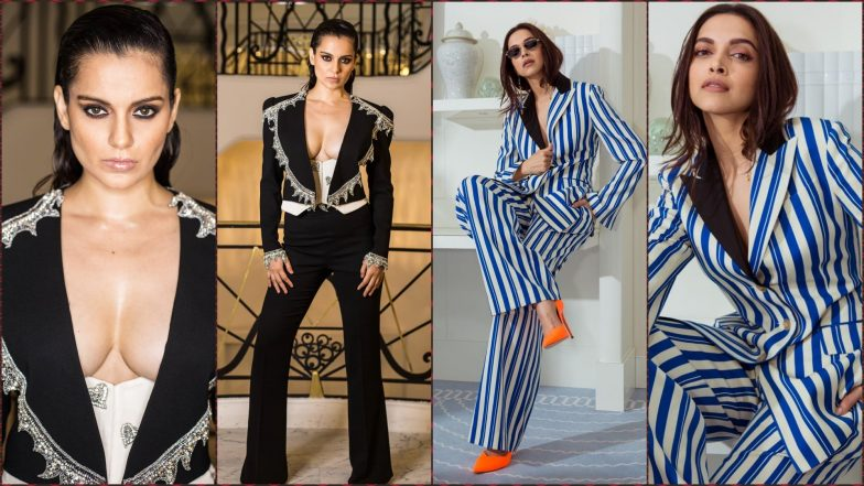 Kangana Ranaut vs Deepika Padukone at Cannes 2019: Who Nailed Pantsuit Look Better?