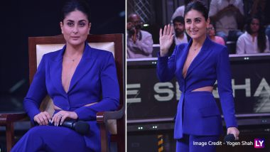 Lady In Blue Kareena Kapoor Khan Effortlessly Nails Her Semi-Formal Look on the Sets of Dance India Dance 7- View Pics