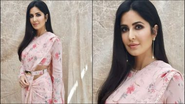 Katrina Kaif Is Having Her Own 'Cannes' Moment As She Looks Gorgeous In a Pink Sabyasachi Saree- View Pics