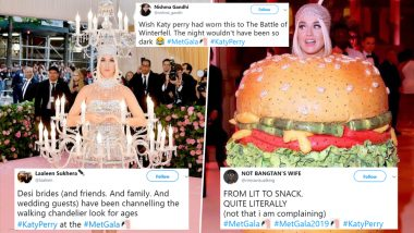 Met Gala 2019 Memes and Jokes: Katy Perry Was Totally Lit Looking Like a Snack As She Pulled Off Both the Chandelier and Cheeseburger Costumes With Élan!