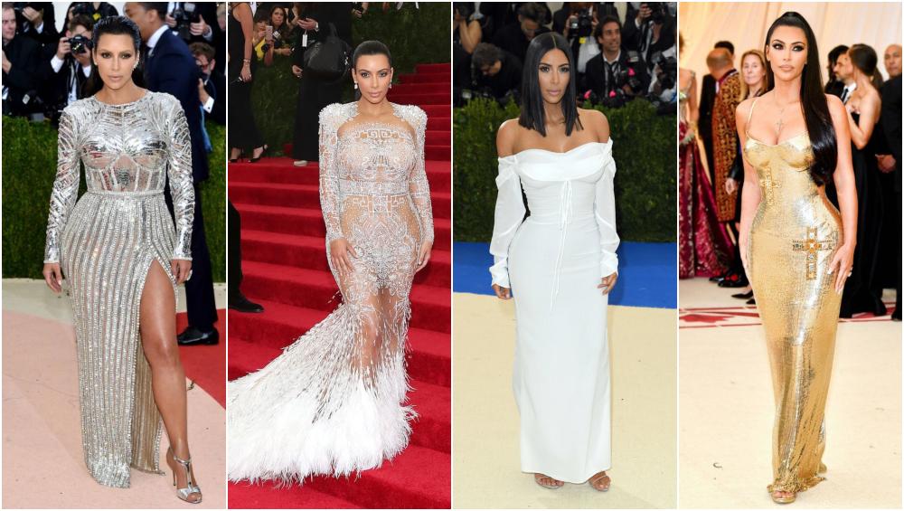 Kim Kardashian at Met gala.
