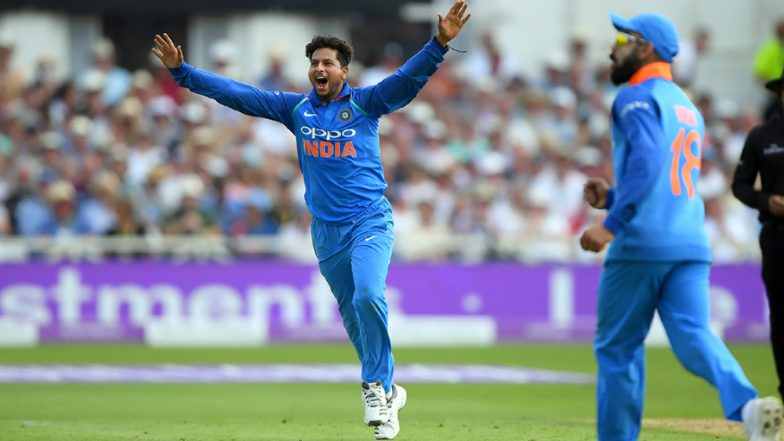 IND vs WI, 3rd ODI: Kuldeep Yadav Four Wickets Short to Become the Fastest Indian Bowler to Take 100 ODI Dismissals
