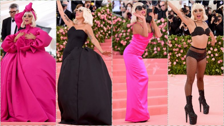 Lady Gaga Owns Met Gala 2019 With Multiple Outfit Changes, Strips Her Brandon Maxwell Cape Dress to Reveal Black Lingerie Underneath
