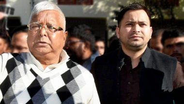 Bihar Lok Sabha Elections 2019 Results: With Lalu Prasad Yadav in Jail, Tejashwi Yadav-Led RJD Fails to Open Account