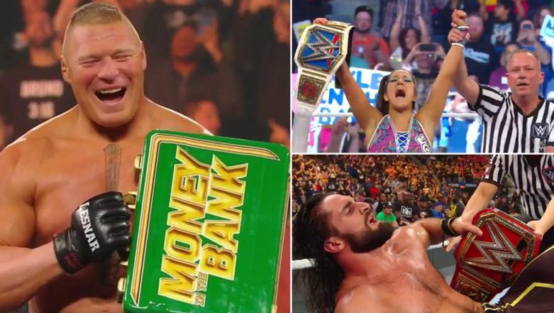 WWE Money in the Bank Results and Highlights: Bayley is SmackDown Women's Champion, Brock Lesnar Returns to Win MITB Ladder Match (Watch Videos and Pics)