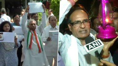 Madhya Pradesh Farmer Loans: Congress Leaders Present 22 Lakh Letters to Shivraj Singh Chouhan as Proof Of Farm Loan Waiver Proof