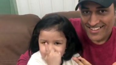 MS Dhoni and Ziva Share Video Encouraging Everyone to Vote! Watch Adorable Father-Daughter Duo Giving Democratic Lesson to All