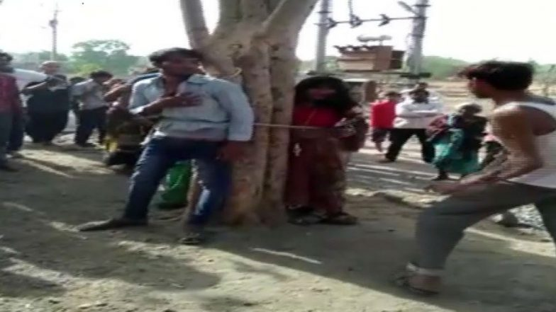 Madhya Pradesh Shocker: 3 People Including Minor Tied to Tree and Thrashed As Villagers Shoot Video