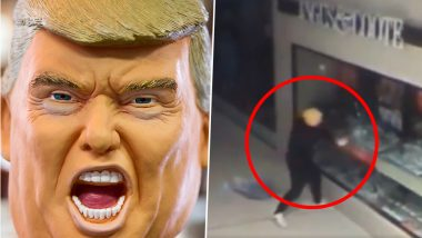 Donald Trump Mask Wearing Thief Breaks Into a Queensland Shopping Centre (Watch Video)