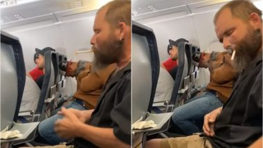 Terrifying! Man Smokes Cigarette on Spirit Airlines Flight to Minneapolis, Video Goes Viral