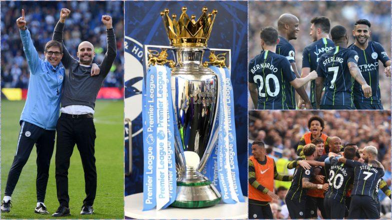 Manchester City Lift the 2018–19 English Premier League Title: Pep Guardiola's Men Pip Liverpool to Win a Second Successive League Trophy (View Pics)