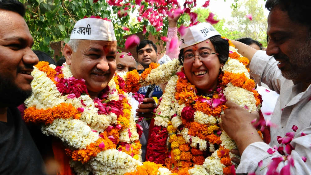 Manish Sisodia, Atishi Declared Winner After Close Contest in Patparganj and Kalkaji, Overall Results Show AAP Sweeping Delhi Assembly Elections 2020