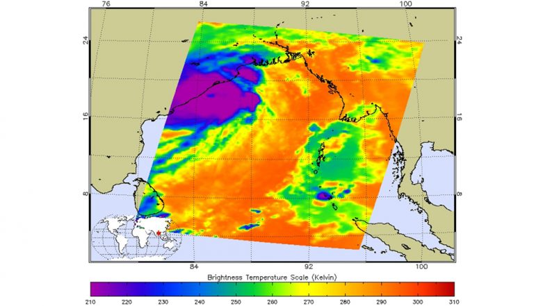 Cyclone Fani Infrared Image Captured By NASA