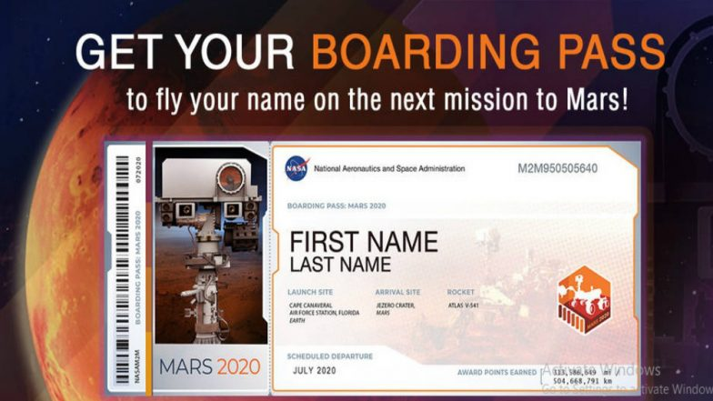 Send your name to NASA to fly aboard Mars 2020 rover