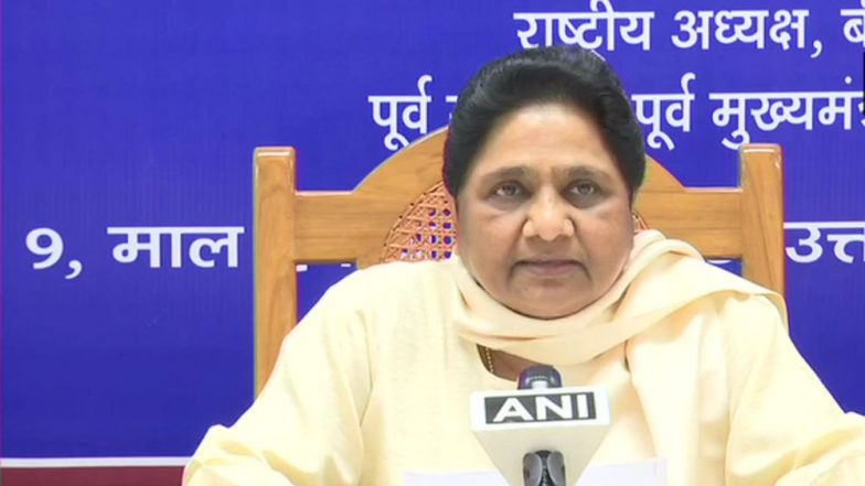 Mayawati Appeals to EC to Take Action Against Candidates Visiting Temples When Barred From Campaigning During Polls