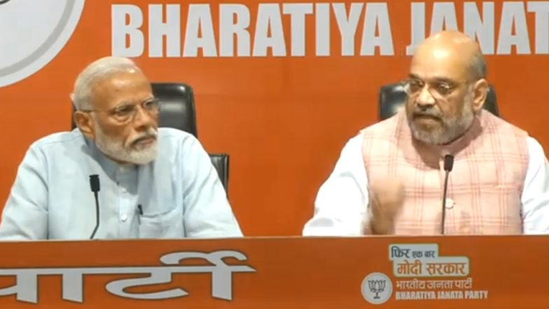 PM Narendra Modi Addresses 1st Press Conference in 5 Years, Amit Shah Answers All Questions on His Behalf
