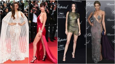 Most Naked Dresses at Cannes: Deepika Padukone, Bella Hadid, Kendall Jenner & Other Celebs Who Made Eye-Popping Appearances!