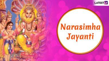 Narasimha Jayanti 2019 Date & Puja Muhurat: Significance, Images & Messages to Celebrate Festival Dedicated to Lord Vishnu Avatar