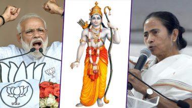 PM Narendra Modi Invokes 'Jai Shri Ram' Chant at West Bengal Lok Sabha Rally, Accuses Mamata Banerjee of Making it a Crime in State