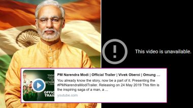 PM Narendra Modi Biopic: Makers Remove the Trailer of the Vivek Oberoi Film Off YouTube Again?
