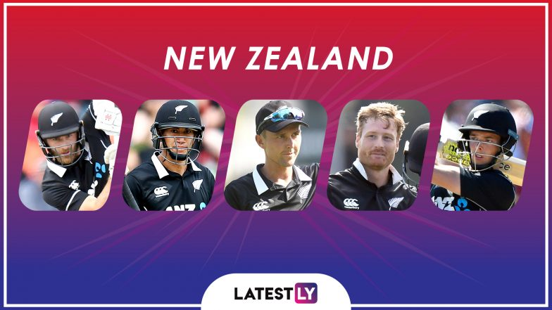 ICC Cricket World Cup 2019: Kane Williamson, Ross Taylor and Other Key Players in the New Zealand Team for CWC