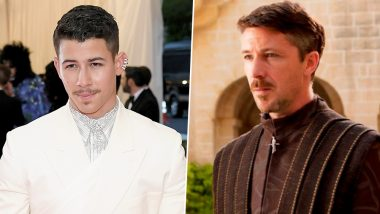 Nick Jonas Channels Little Finger at Met Gala 2019? Twitter Thinks The Singer Looks Like Game of Thrones' Lord Petyr Baelish With That Thin Moustache! (See Pics)