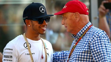 F1 Legend Niki Lauda Dies Aged 70: Five-Time World Champion Lewis Hamilton Pays Fitting Tribute to 'Bright Light' of His Life