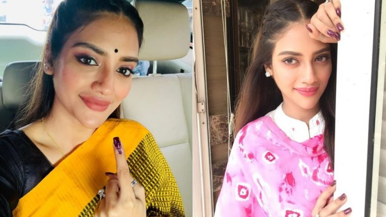 Nusrat Jahan, TMC Basirhat Candidate, Casts Vote in Phase 7 Lok Sabha Elections 2019 Amid Violence in West Bengal