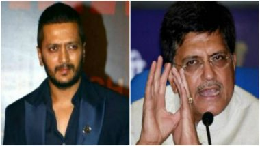 Riteish Deshmukh Hits Back at Piyush Goyal After Attack on Father Vilasrao Deshmukh Over 26/11 Terror Attack