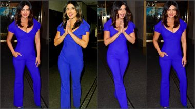 Priyanka Chopra Jonas Flashes a Hint of Cleavage in Electric Blue Jumpsuit! Check Out Pics of Our Street Style Inspo