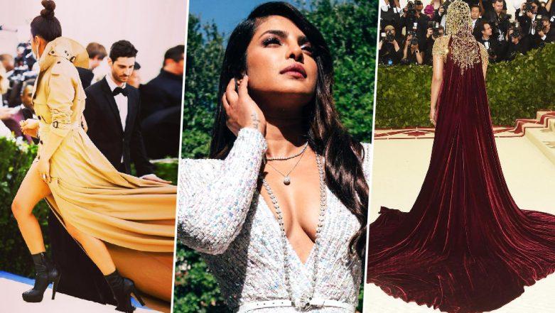 Priyanka Chopra Jonas at Met Gala: Sartorial Choices of the Fashionista That Make Us Look Forward to Her 2019 Appearance