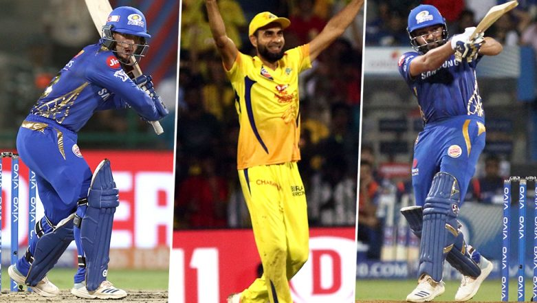 CSK vs MI, IPL 2019 Qualifier 1, Key Players: Quinton de Kock, Imran Tahir, Rohit Sharma And Other Cricketers to Watch Out for at MA Chidambaram Stadium in Chennai