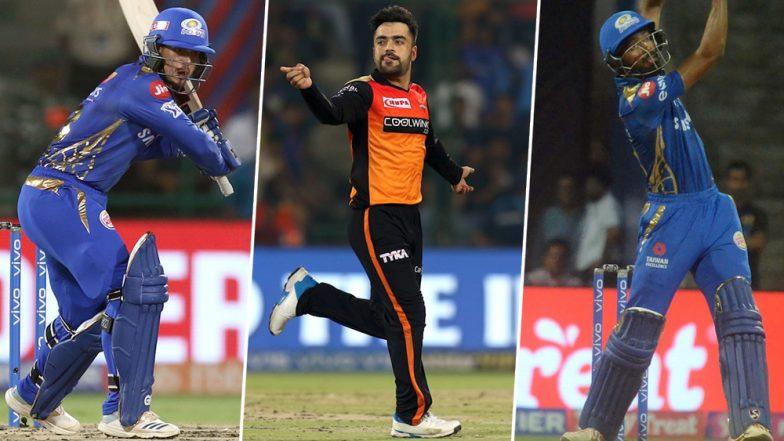 MI vs SRH, IPL 2019 Match 51, Key Players: Quinton de Kock, Rashid Khan, Hardik Pandya And Other Cricketers to Watch Out for at Wankhede Stadium in Mumbai