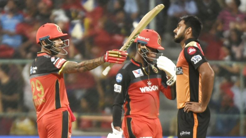 RCB vs SRH Stat Highlights IPL 2019: Shimron Hetmyer, Gurkeerat Singh Mann Shine as Royal Challengers Bangalore Make Sunrisers Hyderabad's Road to Playoffs Tough