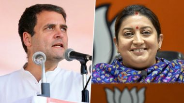 Rahul Gandhi Suffers Embarrassing Loss in Congress Stronghold Amethi Lok Sabha Constituency, Congratulates Smriti Irani For Her Victory