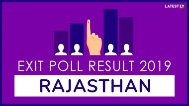 Rajasthan Exit Poll Results For Lok Sabha Elections 2019 In All Constituencies: BJP to Win 22 Seats, Congress 3, Say Post-Poll Surveys