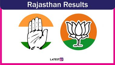 Rajasthan General Election Results 2019 Live News Update: BJP-RLP Alliance Wins All 25 Lok Sabha Seats in the State