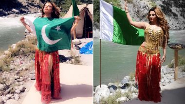 Rakhi Sawant Leaves Everyone Confused After Posing With Pakistani National Flag, Explains Why in an Instagram Video