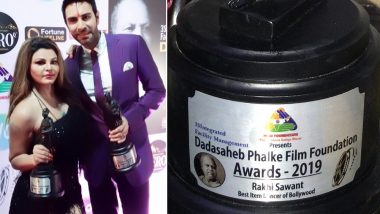 Rakhi Sawant Gets Dadasaheb Phalke Award for 'Best Item Dancer of Bollywood', Shares PROOF on Instagram – View Pics