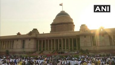 Forecourt of Rashtrapati Bhawan Decked Up For 4th Swearing-in Ceremony
