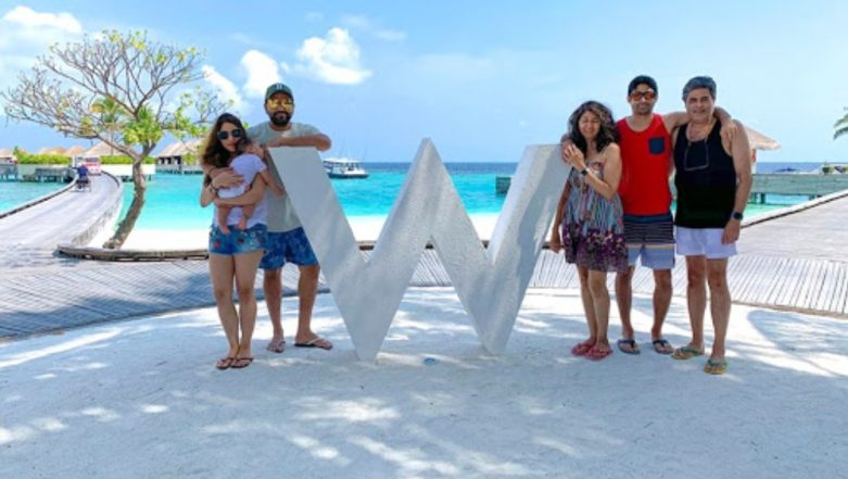 Rohit Sharma's Maldives Holiday Pics: Indian Opener Enjoys Family Time With Wife Ritika and Daughter Samaira