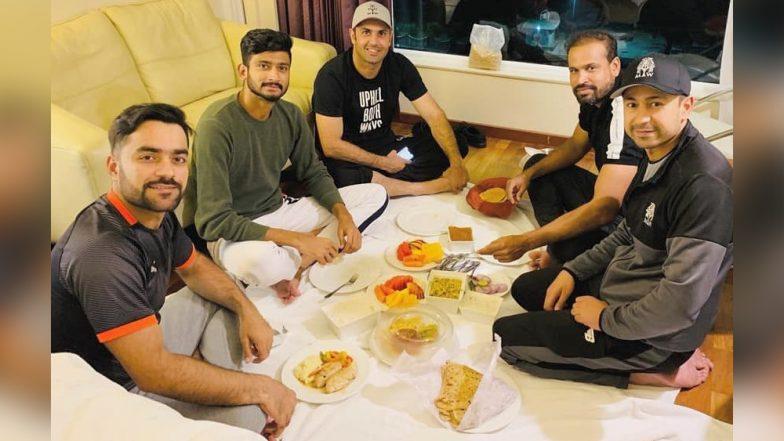 Ramadan 2019: Sunrisers Hyderabad Pacer Khaleel Ahmed Enjoys Sehri Meal With Rashid Khan, Yusuf Pathan and Mohammad Nabi Ahead of DC vs SRH IPL Eliminator
