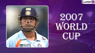 Sachin Tendulkar World Cup Special: Why ICC Cricket World Cup 2007 Was Such a Nightmare for Master Blaster and Team India