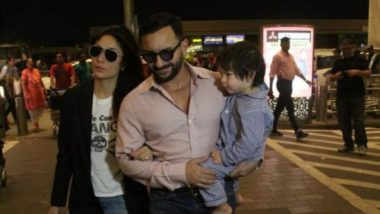 Kareena Kapoor Khan And Taimur Join Saif Ali Khan As He Heads To London To Shoot For Jawaani Deewani - View Pics