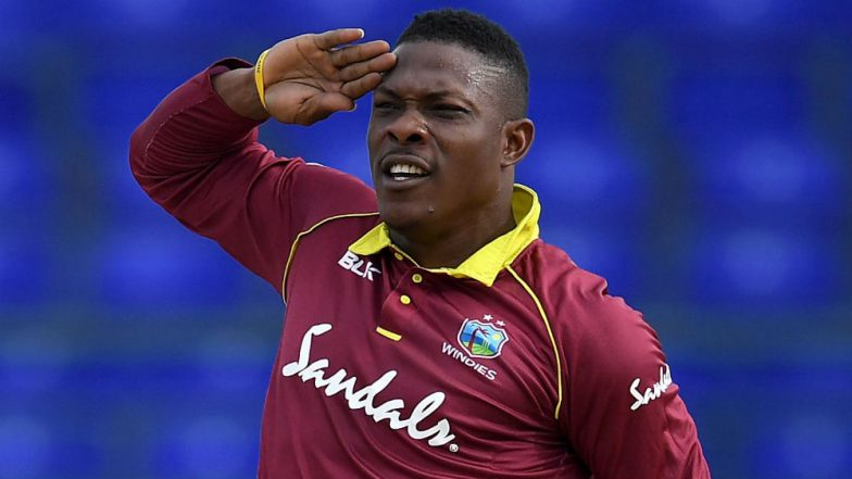 ENG vs WI, ICC CWC 2019: West Indies Pacer Sheldon Cottrell Teaches School Kids How to Do 'Sheldon Salute', Watch Video