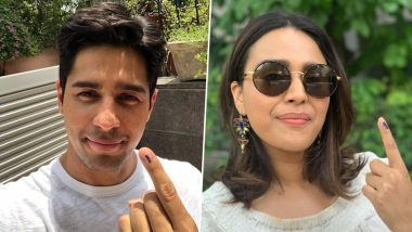 Lok Sabha Elections 2019: Sidharth Malhotra and Swara Bhasker Cast Their Vote From Delhi- View Pics
