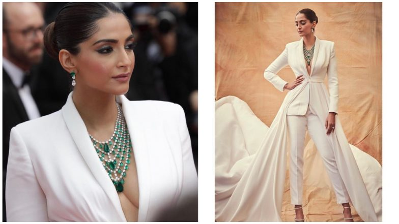 Cannes 2019: Sonam Kapoor Wears a Tuxedo-Gown With a Plunging Neckline Only To Tell Us Who's The Boss! (View Pics)
