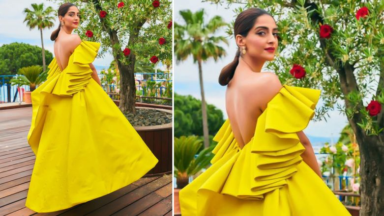 Cannes 2019: Sonam Kapoor Wears a Bright Yellow Off-Shoulder Gown by Ashi Studio and We're Loving It!