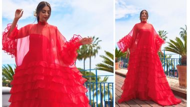 Sonam Kapoor Joins Priyanka Chopra To Represent Chopard At The Cannes Film Festival In A Resplendent Red Valentino Gown - View Pics